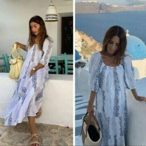 Zara Print and Embroidered Dress